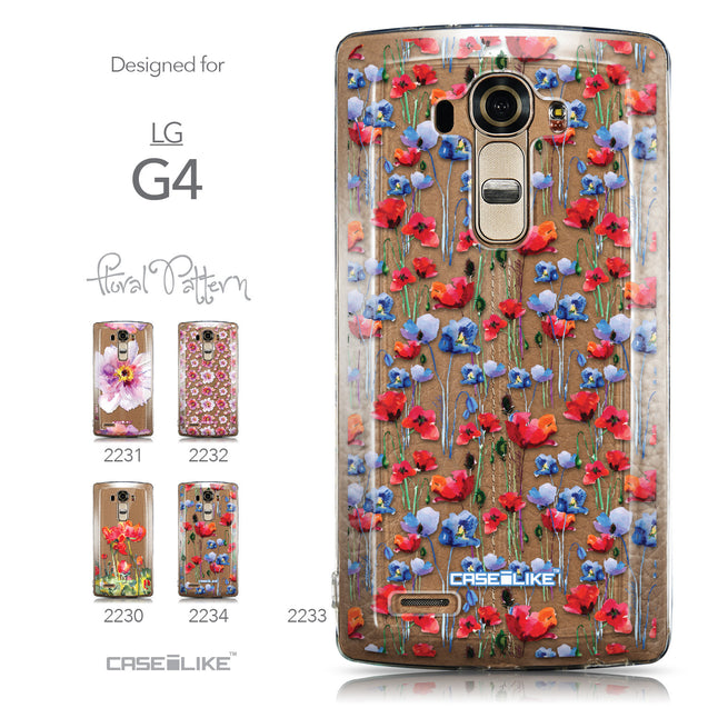 Collection - CASEiLIKE LG G4 back cover Watercolor Floral 2233