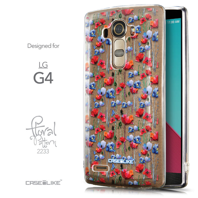 Front & Side View - CASEiLIKE LG G4 back cover Watercolor Floral 2233