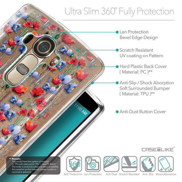 Details in English - CASEiLIKE LG G4 back cover Watercolor Floral 2233