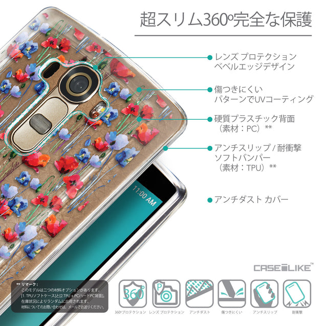 Details in Japanese - CASEiLIKE LG G4 back cover Watercolor Floral 2233
