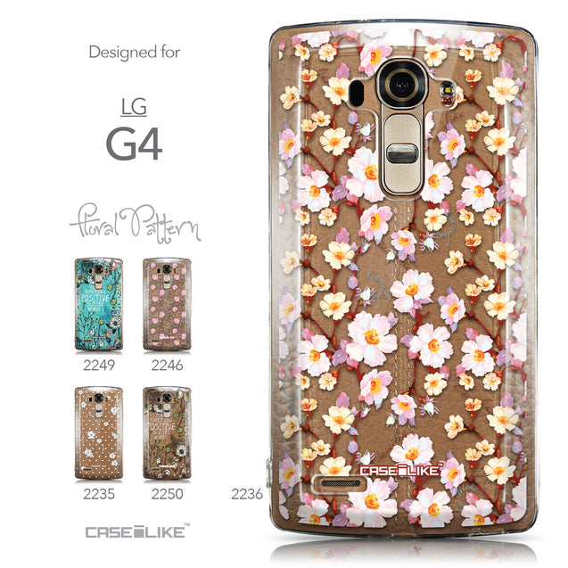 Collection - CASEiLIKE LG G4 back cover Watercolor Floral 2236