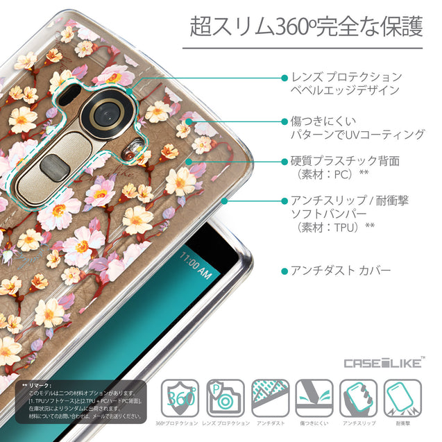 Details in Japanese - CASEiLIKE LG G4 back cover Watercolor Floral 2236