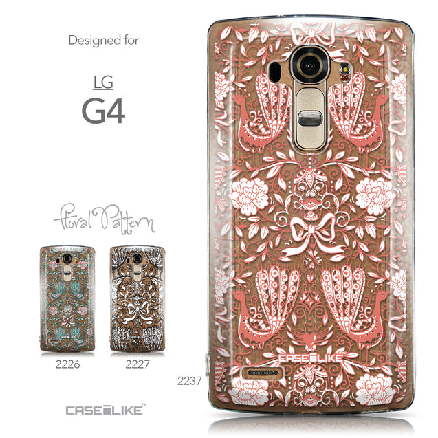 Collection - CASEiLIKE LG G4 back cover Roses Ornamental Skulls Peacocks 2237