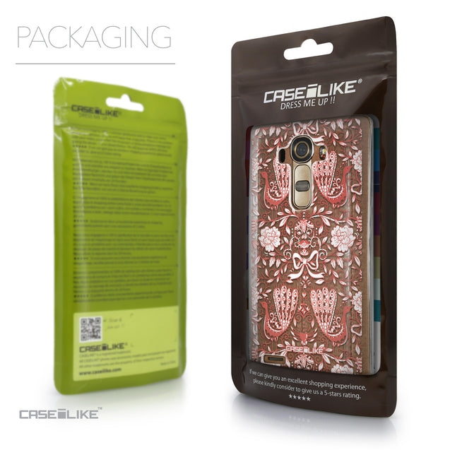 Packaging - CASEiLIKE LG G4 back cover Roses Ornamental Skulls Peacocks 2237