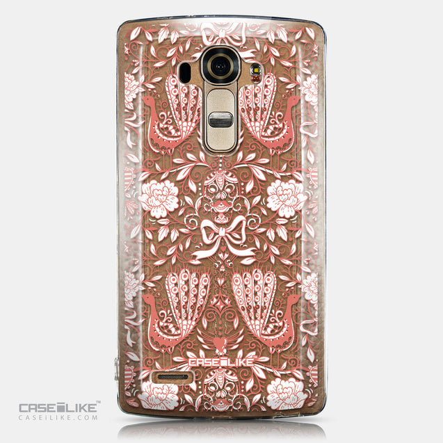 CASEiLIKE LG G4 back cover Roses Ornamental Skulls Peacocks 2237