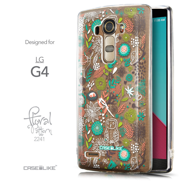 Front & Side View - CASEiLIKE LG G4 back cover Spring Forest White 2241