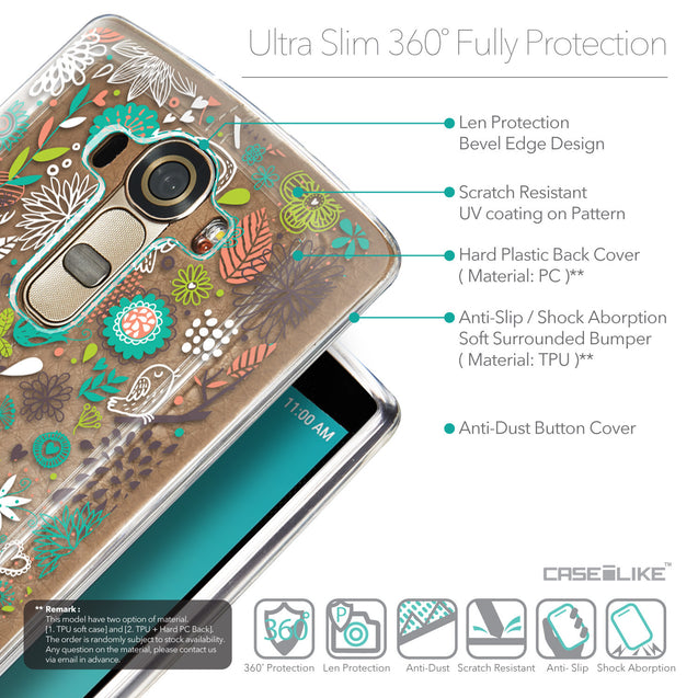 Details in English - CASEiLIKE LG G4 back cover Spring Forest White 2241