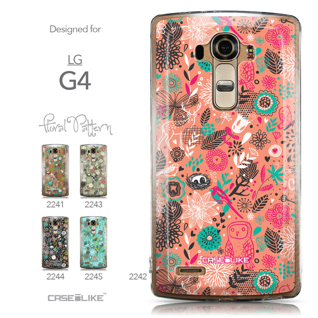 Collection - CASEiLIKE LG G4 back cover Spring Forest Pink 2242