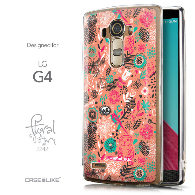 Front & Side View - CASEiLIKE LG G4 back cover Spring Forest Pink 2242