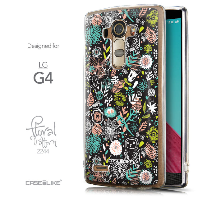 Front & Side View - CASEiLIKE LG G4 back cover Spring Forest Black 2244