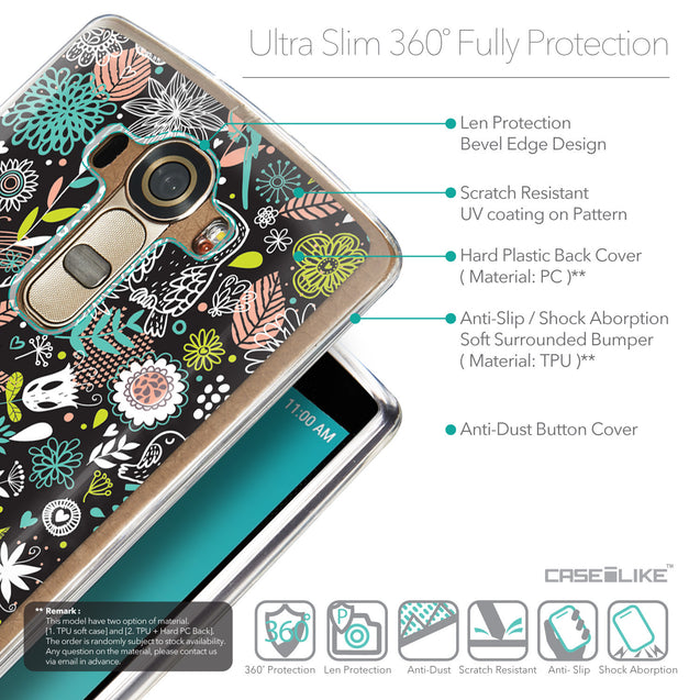 Details in English - CASEiLIKE LG G4 back cover Spring Forest Black 2244