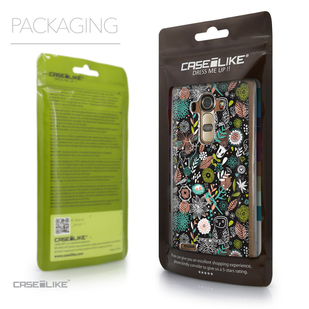Packaging - CASEiLIKE LG G4 back cover Spring Forest Black 2244