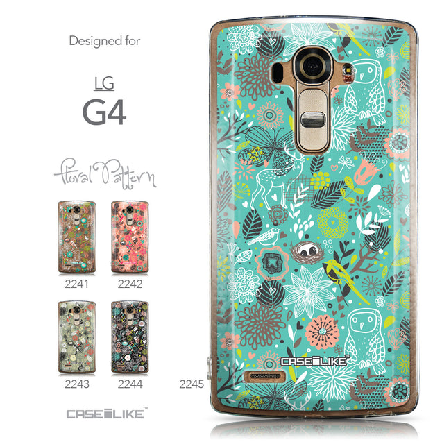 Collection - CASEiLIKE LG G4 back cover Spring Forest Turquoise 2245