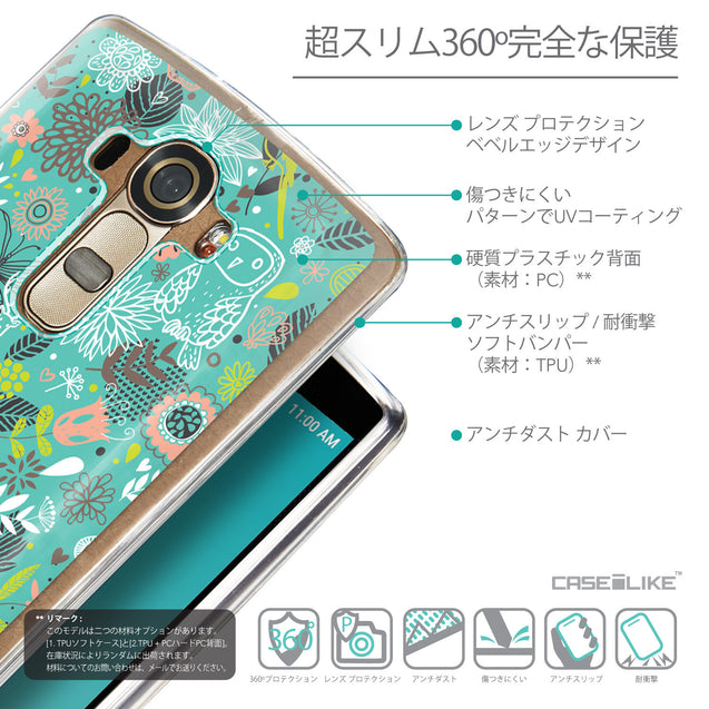 Details in Japanese - CASEiLIKE LG G4 back cover Spring Forest Turquoise 2245