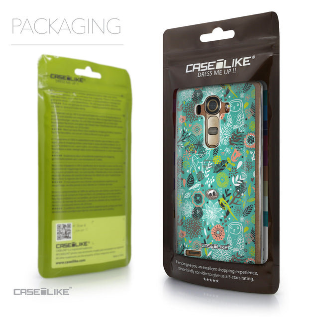 Packaging - CASEiLIKE LG G4 back cover Spring Forest Turquoise 2245