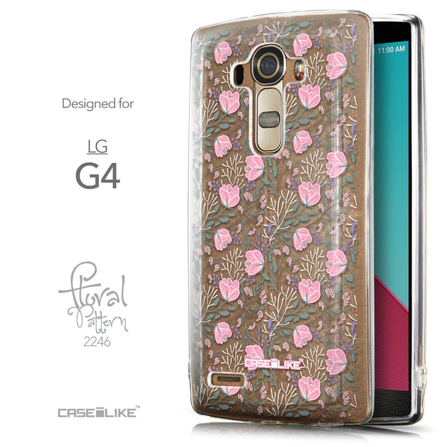 Front & Side View - CASEiLIKE LG G4 back cover Flowers Herbs 2246