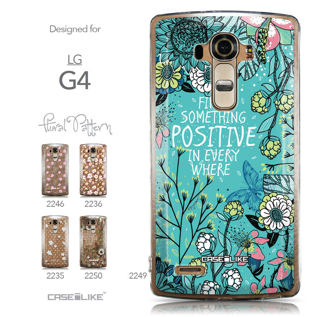 Collection - CASEiLIKE LG G4 back cover Blooming Flowers Turquoise 2249