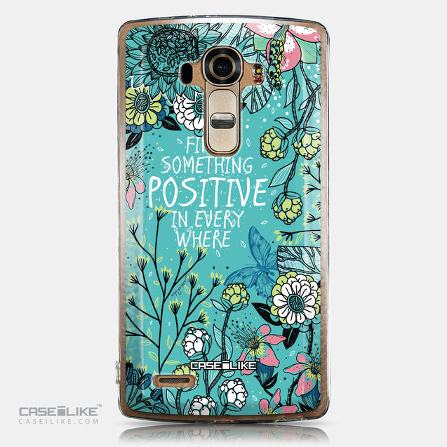 CASEiLIKE LG G4 back cover Blooming Flowers Turquoise 2249
