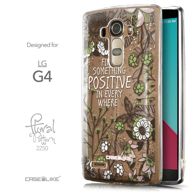 Front & Side View - CASEiLIKE LG G4 back cover Blooming Flowers 2250