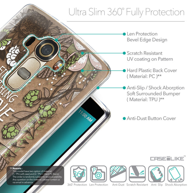 Details in English - CASEiLIKE LG G4 back cover Blooming Flowers 2250