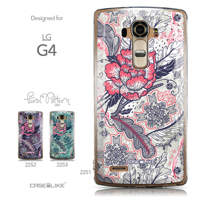 Collection - CASEiLIKE LG G4 back cover Vintage Roses and Feathers Beige 2251