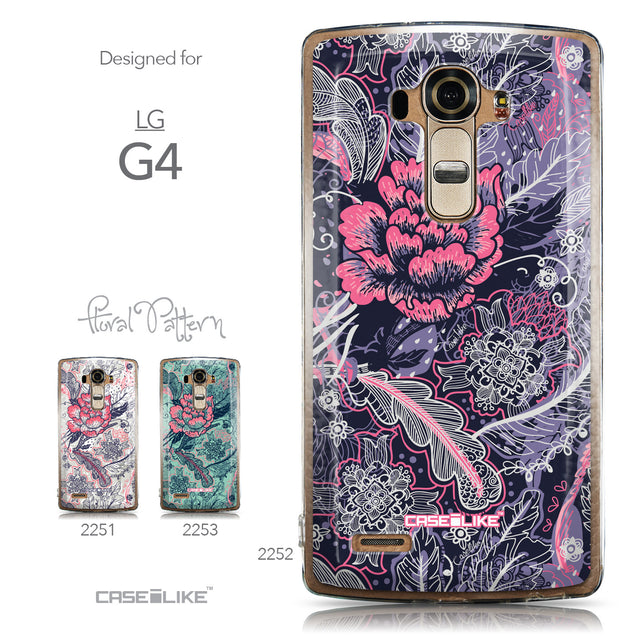 Collection - CASEiLIKE LG G4 back cover Vintage Roses and Feathers Blue 2252