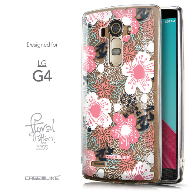 Front & Side View - CASEiLIKE LG G4 back cover Japanese Floral 2255
