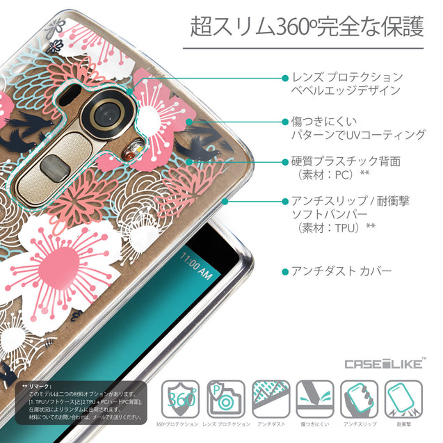 Details in Japanese - CASEiLIKE LG G4 back cover Japanese Floral 2255