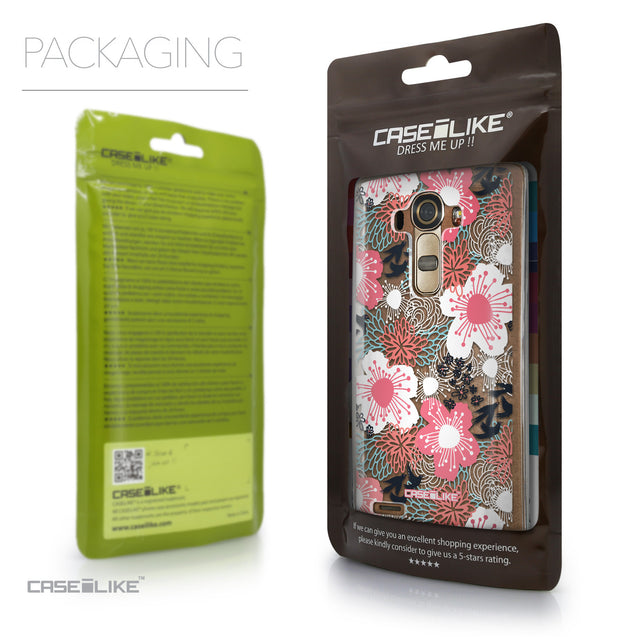 Packaging - CASEiLIKE LG G4 back cover Japanese Floral 2255