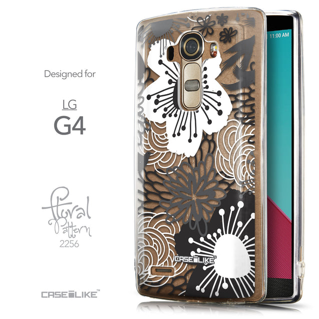 Front & Side View - CASEiLIKE LG G4 back cover Japanese Floral 2256