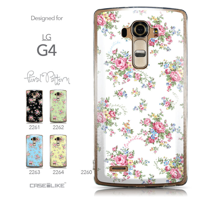 Collection - CASEiLIKE LG G4 back cover Floral Rose Classic 2260