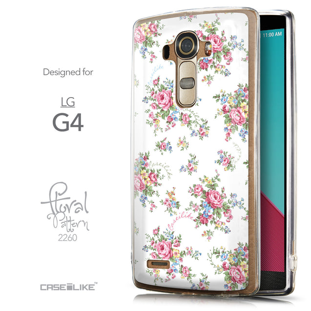 Front & Side View - CASEiLIKE LG G4 back cover Floral Rose Classic 2260