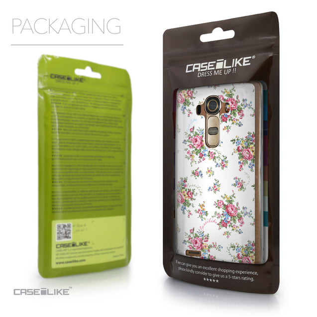 Packaging - CASEiLIKE LG G4 back cover Floral Rose Classic 2260