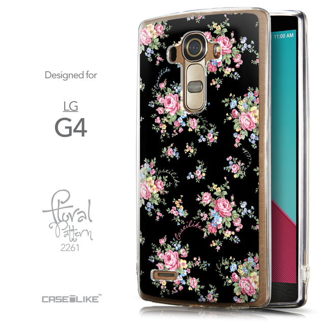 Front & Side View - CASEiLIKE LG G4 back cover Floral Rose Classic 2261