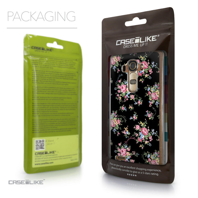 Packaging - CASEiLIKE LG G4 back cover Floral Rose Classic 2261