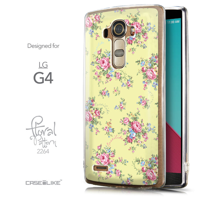 Front & Side View - CASEiLIKE LG G4 back cover Floral Rose Classic 2264
