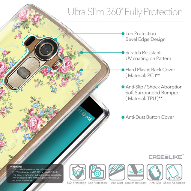 Details in English - CASEiLIKE LG G4 back cover Floral Rose Classic 2264