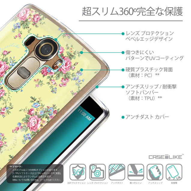 Details in Japanese - CASEiLIKE LG G4 back cover Floral Rose Classic 2264
