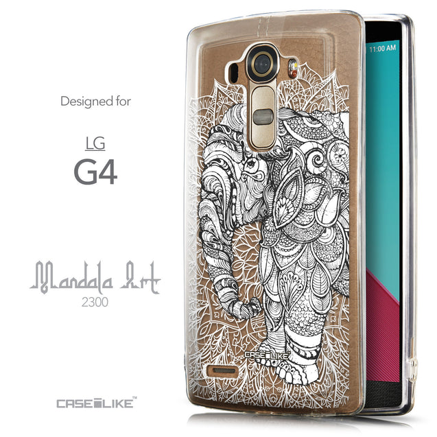 Front & Side View - CASEiLIKE LG G4 back cover Mandala Art 2300