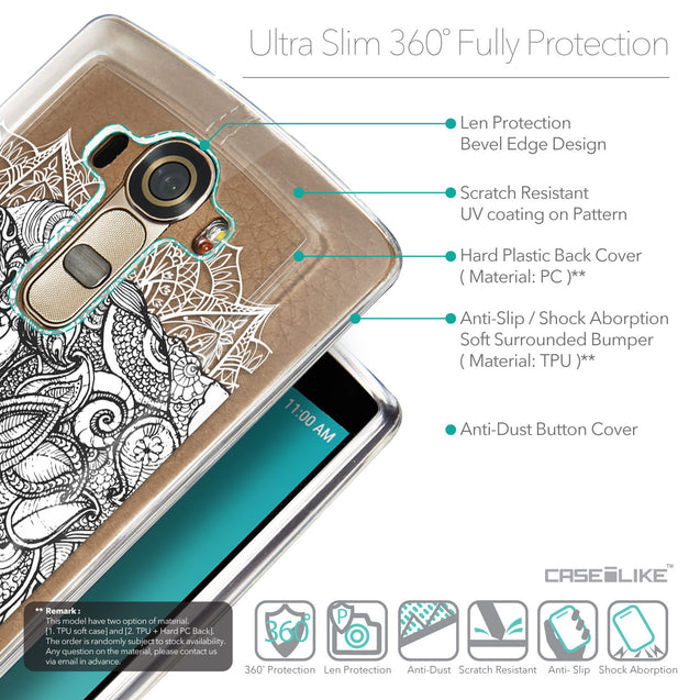 Details in English - CASEiLIKE LG G4 back cover Mandala Art 2300