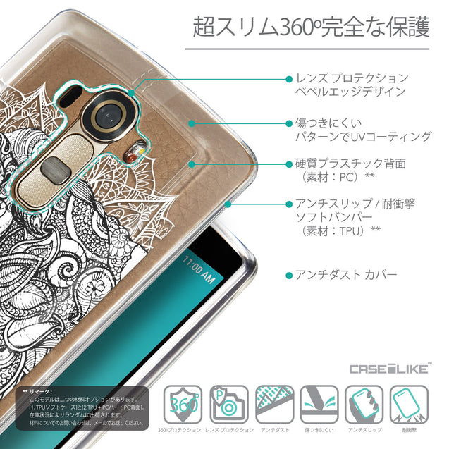Details in Japanese - CASEiLIKE LG G4 back cover Mandala Art 2300