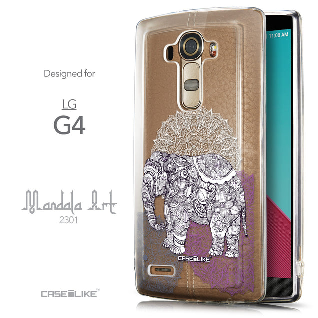 Front & Side View - CASEiLIKE LG G4 back cover Mandala Art 2301
