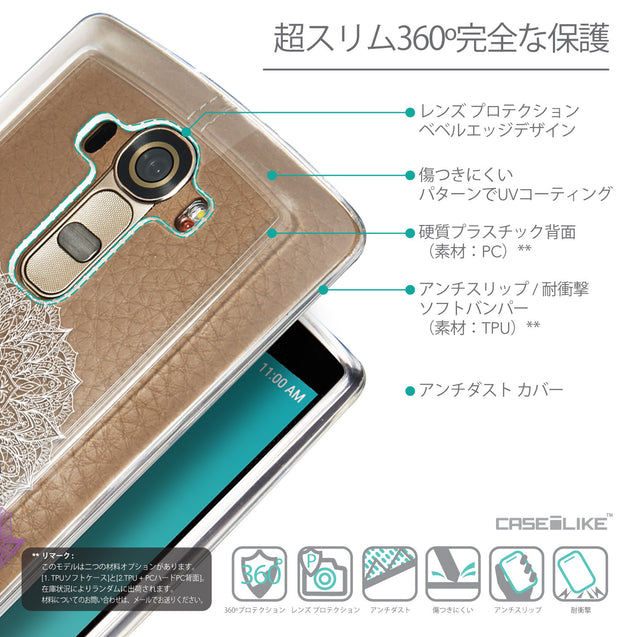 Details in Japanese - CASEiLIKE LG G4 back cover Mandala Art 2301