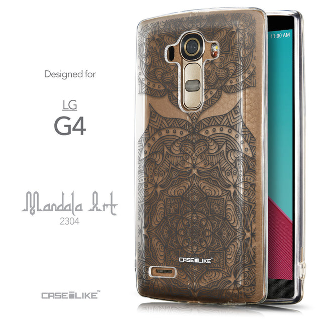 Front & Side View - CASEiLIKE LG G4 back cover Mandala Art 2304