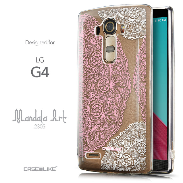 Front & Side View - CASEiLIKE LG G4 back cover Mandala Art 2305