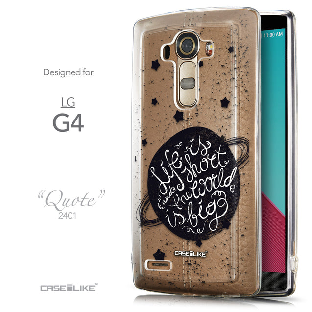 Front & Side View - CASEiLIKE LG G4 back cover Quote 2401