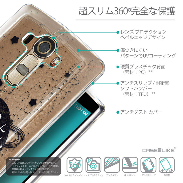 Details in Japanese - CASEiLIKE LG G4 back cover Quote 2401