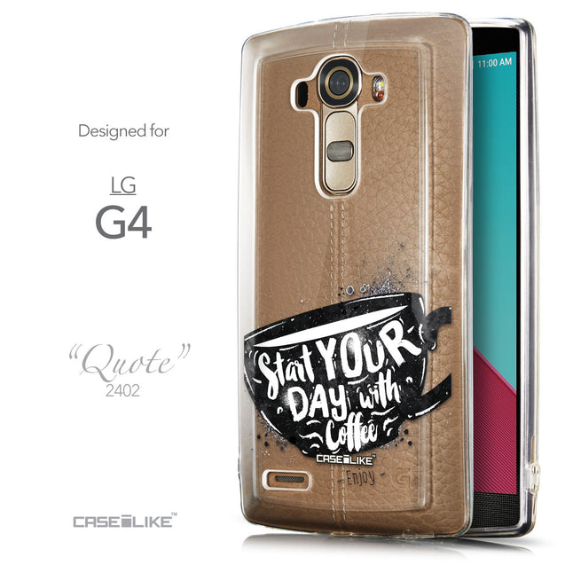 Front & Side View - CASEiLIKE LG G4 back cover Quote 2402