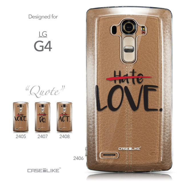 Collection - CASEiLIKE LG G4 back cover Quote 2406