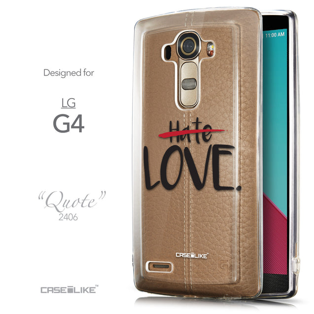Front & Side View - CASEiLIKE LG G4 back cover Quote 2406
